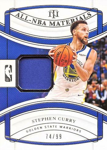 2019-20 Panini National Treasures Basketball All-NBA Materials Stephen Curry