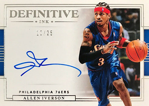 2019-20 Panini National Treasures Basketball Definitive Ink Allen Iverson