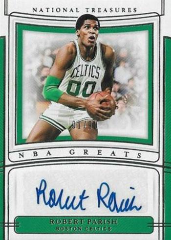 2019-20 Panini National Treasures Basketball NBA Greats Signatures Robert Parish