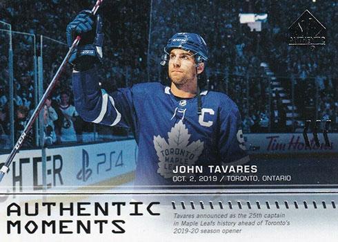 2019-20 SP Authentic Hockey John Tavares Authentic Moments
