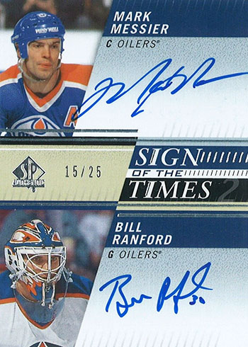 2019-20 SP Authentic Hockey Sign of the Times Dual Mark Messier Bill Ranford