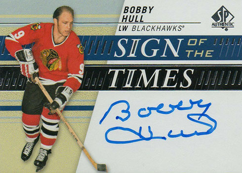 2019-20 SP Authentic Hockey Sign of the Times Bobby Hull