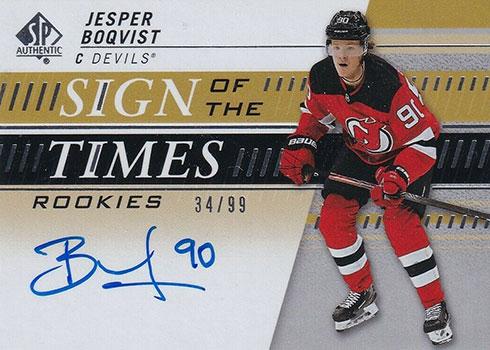 2019-20 SP Authentic Hockey Sign of the Times Rookies Jesper Boqvist