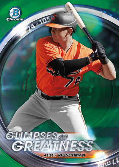 2020 Bowman Draft Baseball Glimpses of Greatness Green