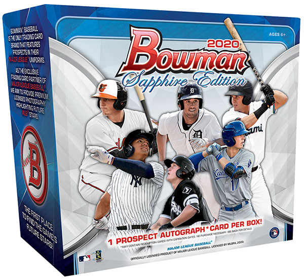 2020 Bowman Sapphire Edition Baseball Hobby Box