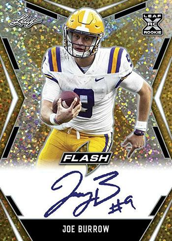 2020 Leaf Flash Football Joe Burrow Autograph