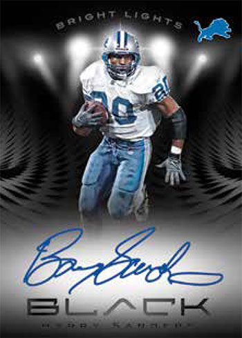 2020 Panini Black Football Bright Lights Signatures