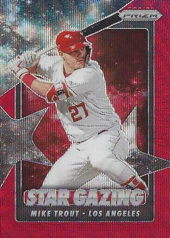 2020 Panini Prizm Baseball Star Gazing Red Wave Mike Trout