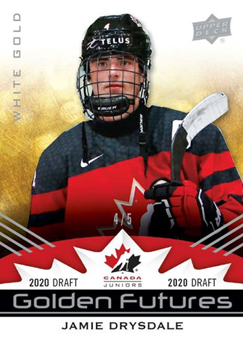 2020-21 Upper Deck Team Canada Juniors Hockey Golden Futures White Gold