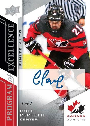 2020-21 Upper Deck Team Canada Juniors Hockey Program of Excellence Autograph