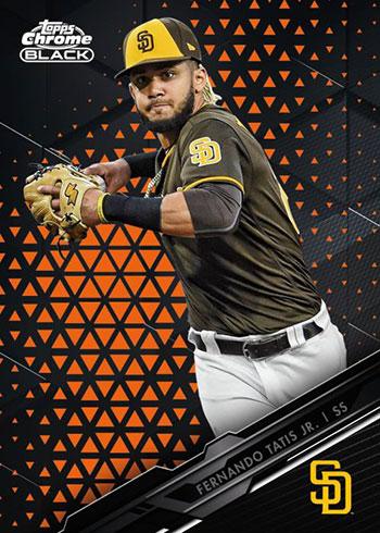 2020 Topps Chrome Black Baseball Orange Refractor