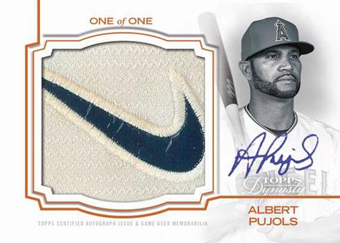2020 Topps Dynasty Baseball Autograph Batting Glove Jumbo Logo