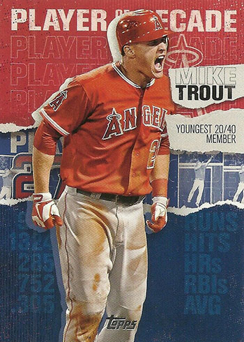 2020 Topps Series 2 Baseball Player of the Decade Mike Trout