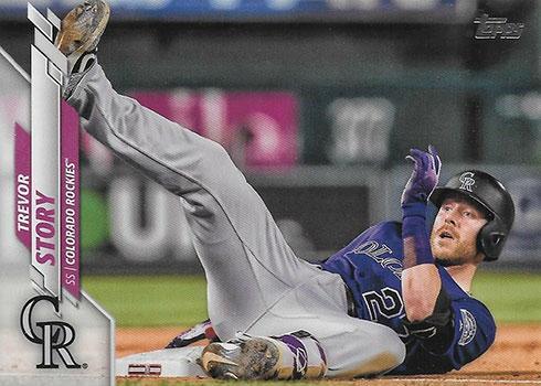2020 Topps Series 2 Baseball Variations Trevor Story