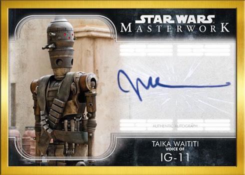 2020 Topps Star Wars Masterwork Autographs Gold Frame