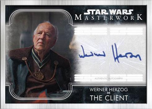 2020 Topps Star Wars Masterwork Autographs Silver Frame