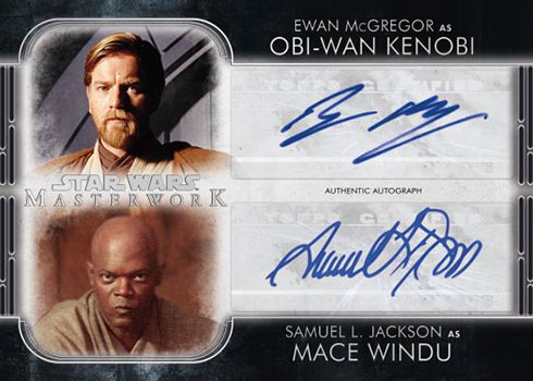 2020 Topps Star Wars Masterwork Dual Autograph