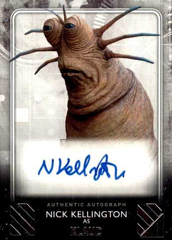 2020 Topps Star Wars Rise of Skywalker Series 2 Autographs Nick Kellington