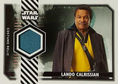 2020 Topps Star Wars Rise of Skywalker Series 2 Costume Relic Lando Calrissian