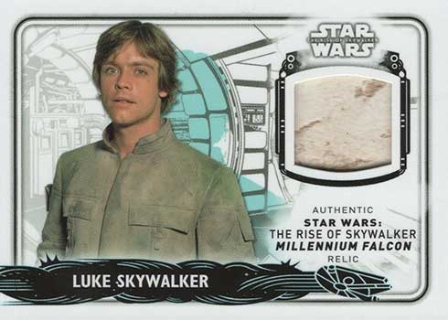 2020 Topps Star Wars Rise of Skywalker Series 2 Millennium Falcon Relics Luke Skywalker