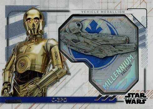 2020 Topps Star Wars Rise of Skywalker Series 2 Vehicle Medallions C-3PO