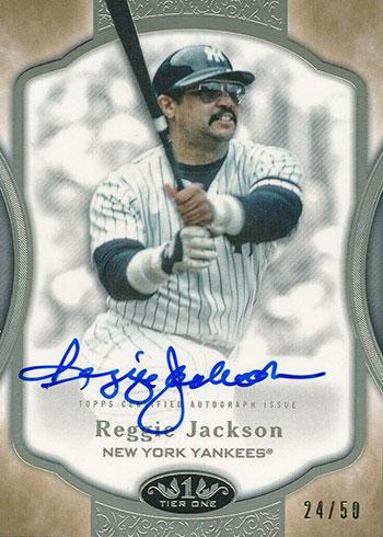 2020 Topps Tier One Baseball Tier One Autographs Reggie Jackson