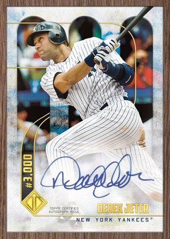 2020 Topps Transcendent Captain's Collection Baseball 3,000 Hits Autographs Derek Jeter