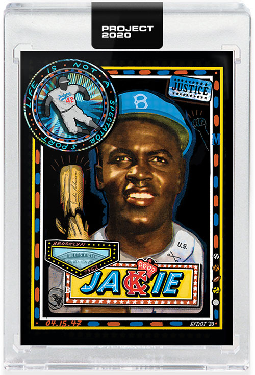 Topps Project 2020 114 Jackie Robinson by Efdot