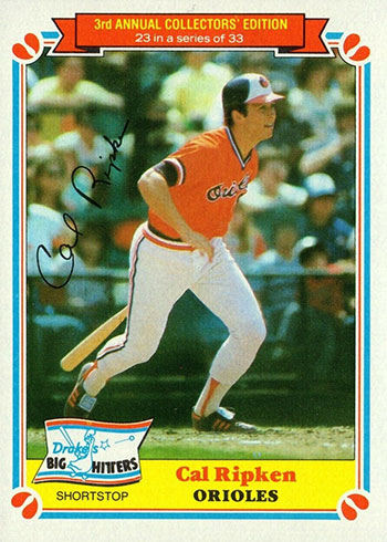 1983 Drake's Baseball Cal Ripken Jr.