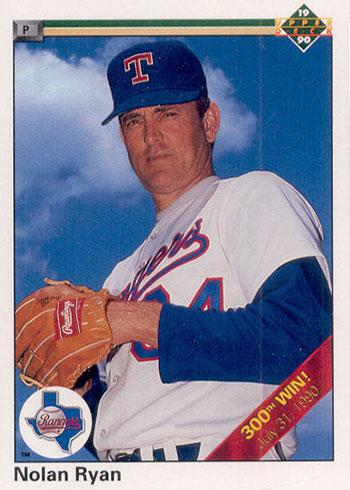 1990 Upper Deck Baseball Nolan Ryan 300 Wins