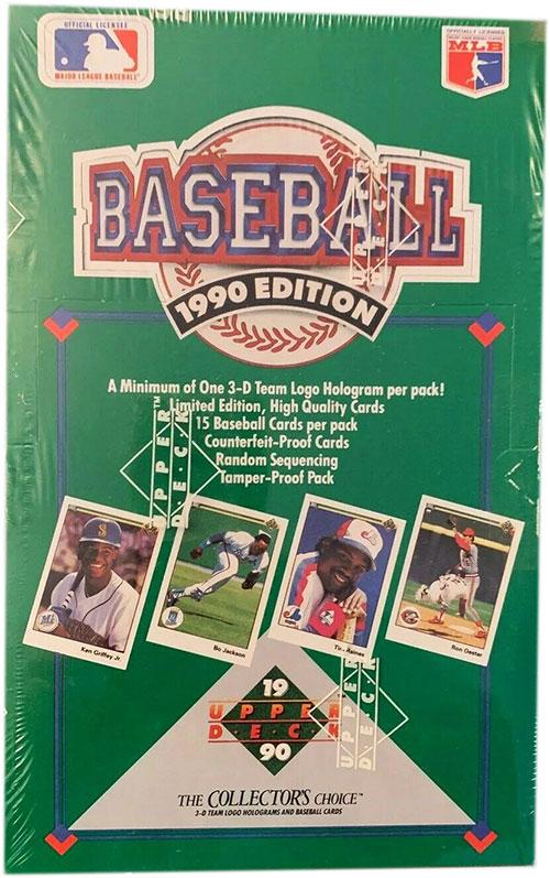 1990 Upper Deck Baseball Box
