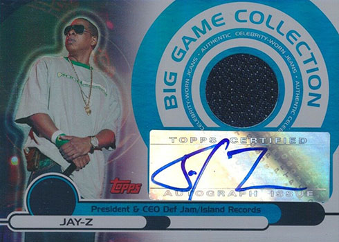 2005-06 Topps Big Game Collection Jay-Z Autograph