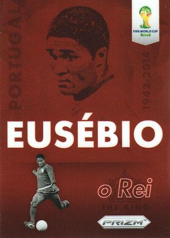 2014 Panini Prizm World Cup Soccer Eusebio Tribute