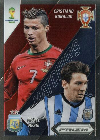 2014 Panini Prizm World Cup Soccer World Cup Matchups Cristiano Ronaldo Lionel Messi
