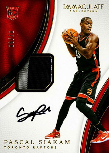 2016-17 Immaculate Collection Pascal Siakam Rookie Card