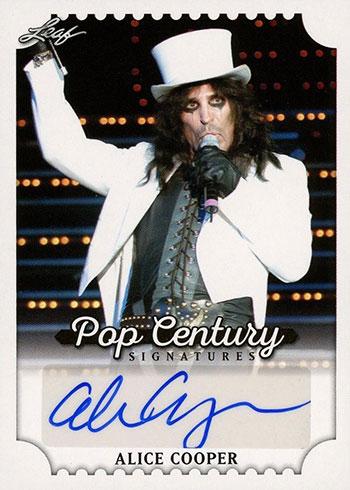 2016 Leaf Pop Century Alice Cooper Autograph