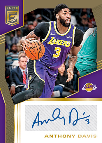 2019-20 Elite Basketball Signatures Anthony Davis