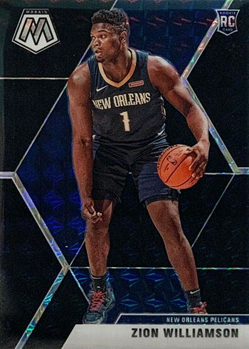 2019-20 Panini Mosaic Basketball Black Zion Williamson
