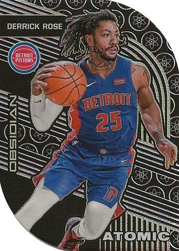 2019-20 Panini Obsidian Basketball Atomic Derrick Rose