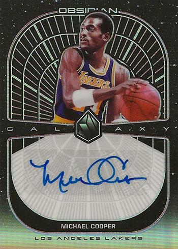 2019-20 Panini Obsidian Basketball Galaxy Autographs Michael Cooper