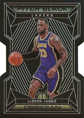 2019-20 Panini Obsidian Basketball Pitch Black LeBron James