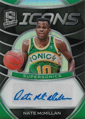 2019-20 Panini Spectra Basketball Icons Autographs Nate McMillan