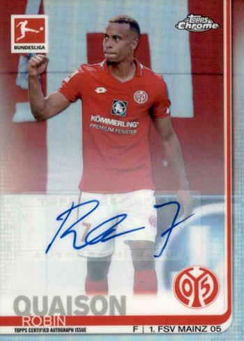 2019-20 Topps Chrome Bundesliga Soccer Robin Quaison Autograph