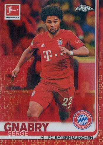 2019-20 Topps Chrome Bundesliga Soccer Red Refractor Serge Gnabry