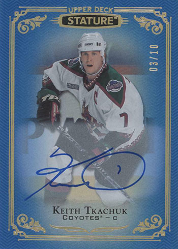 2019-20 Upper Deck Stature Hockey Autographs Blue Keith Tkachuk