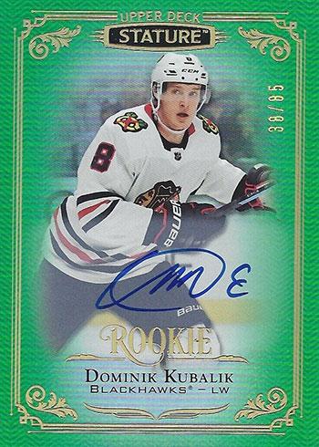 2019-20 Upper Deck Stature Hockey Autographs Green Domink Kubalik