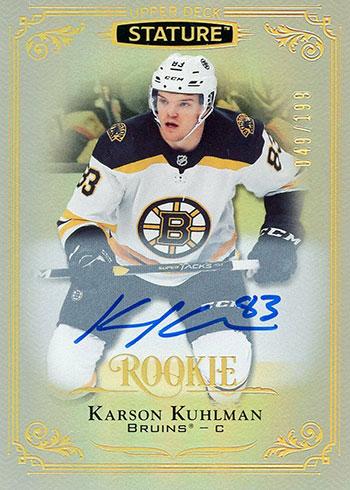 2019-20 Upper Deck Stature Hockey Karson Kuhlman Autograph