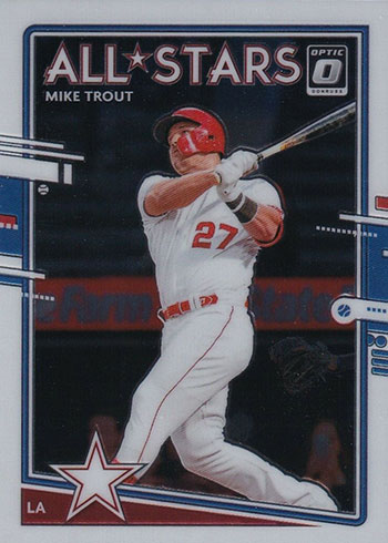 2020 Donruss Optic Baseball Mike Trout All-Stars