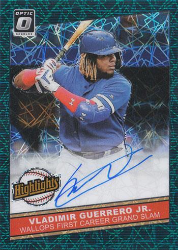 2020 Donruss Optic Baseball Highlights Signatures Teal Velocity Vladimir Guerrero Jr.