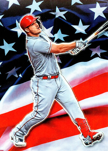 2020 Donruss Optic Baseball Stars and Stripes Mike Trout